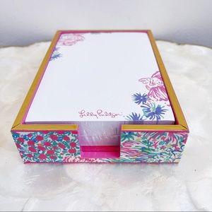 Lilly Pulitzer Pink Koi Fish Stationery Pad & Tray